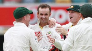 Nathan Lyon in happier times.