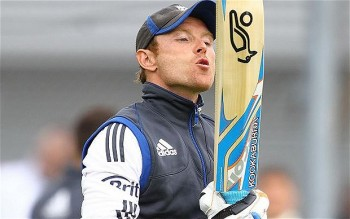 The eighth wonder of the world takes a moment to appreciate the well-worn middle of his bat