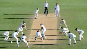 You would hope for the fielders sake Monty didn't get too nervous while batting.