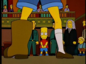 Warner prepares to accept his punishment for crimes against the Australian state.