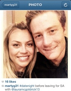 Mrs and Mr Guptill. I wouldn't worry about the cricket if I was you Martin.
