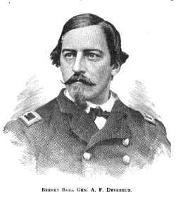 """So drunk in fact, that we've managed to put up a picture of Brigadier General Arthur F. Devereux from """"Massachusetts in the War,"""" 1889"""