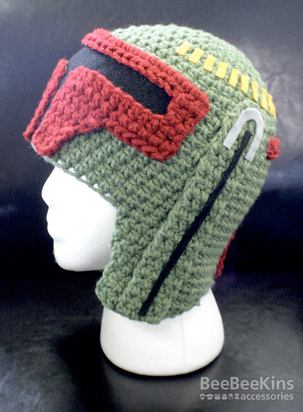 Free Crochet Pattern Star Wars Hats : Boba Fett crochet hat - 51allout