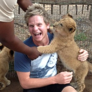 He's already proved his readiness by looking after some lions.