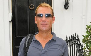 Apropos of nothing, he's an artist's impression of Shane Warne