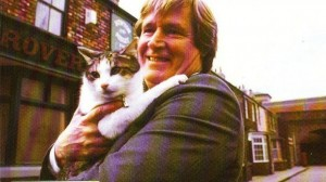Whereas Ken Barlow is relying more on playing to the jury's love of cats.