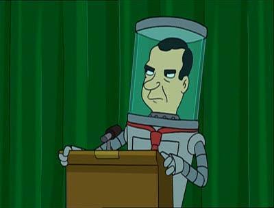 Billionaire David Rockefeller Dead at Age 101 - KILLUMINATI  Futurama-Richard-Nixon