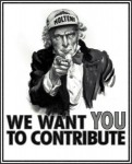 We want you to contribute