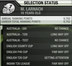 Our current selection status leads us to believe English T20 teams will sign pretty much anyone.