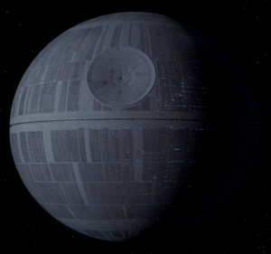 If the Empire knew anything about psychological warfare, they would have stuck a mustache on the Death Star.