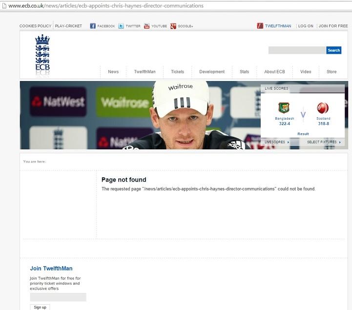 Maybe www.cricketenglandandwales.co.uk works better.