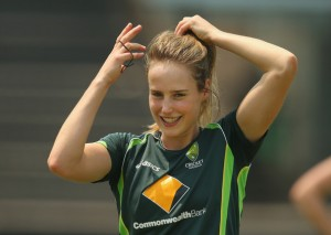 Basically, no-one was paying any attention until Ellyse Perry was suddenly on TV, at which point a crowd mysteriously gathered around the TV.
