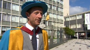 Paul Collingwood: no MBE but a MSc in wearing funny hats.
