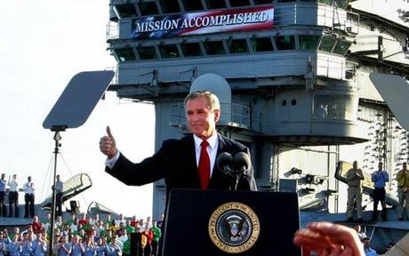 Although getting George Bush on board was, in hindsight, a public relations mistake.