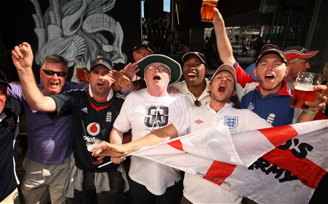 English cricket fans; nothing but bullies.