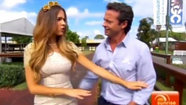 To be fair, if we were interviewing a Miss Universe winner, we'd go in for a quick grope too.