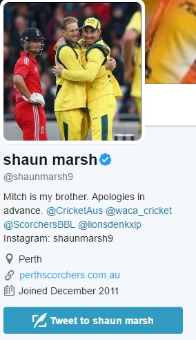 Which leaves the Mitch Marsh fan club with precisely one member.